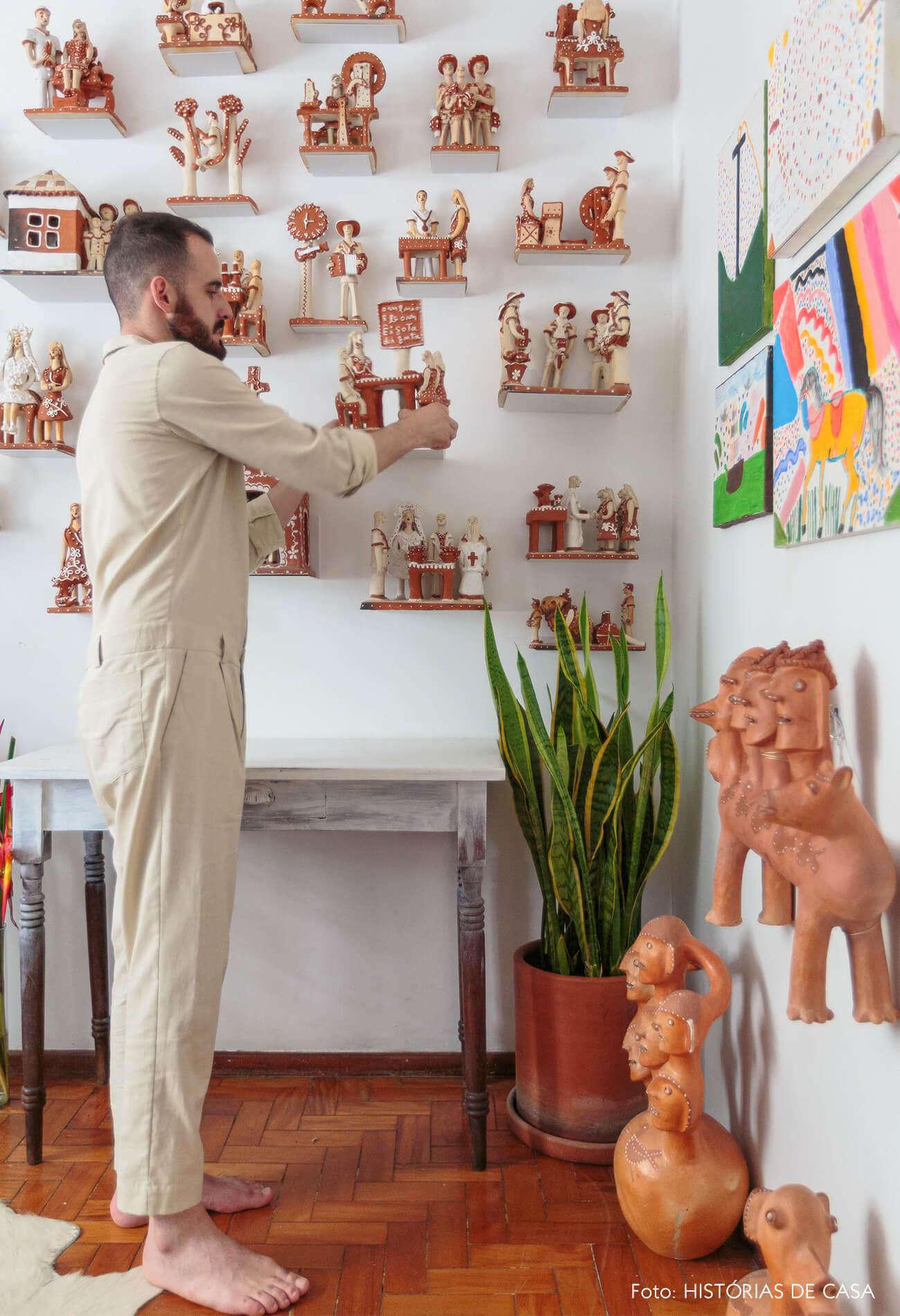 decoração retrato com ceramicas