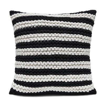 Almofada Listra trico branco e preto