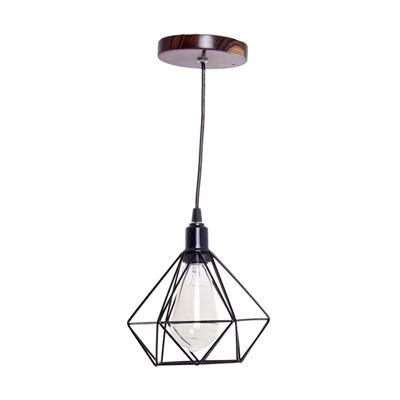 luminária de arame geométrico