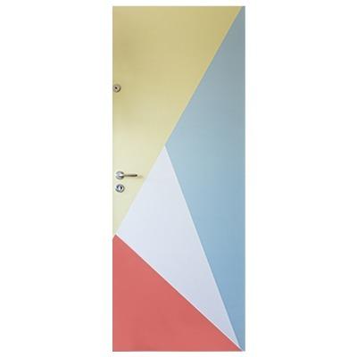Adesivo para porta geométrico e colorido