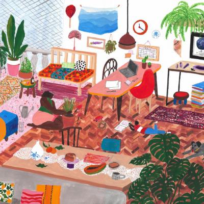 Ilustração Fernanda Peralta para coluna Fique Em Casa
