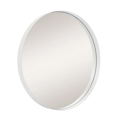 Espelho Decorativo redondo branco