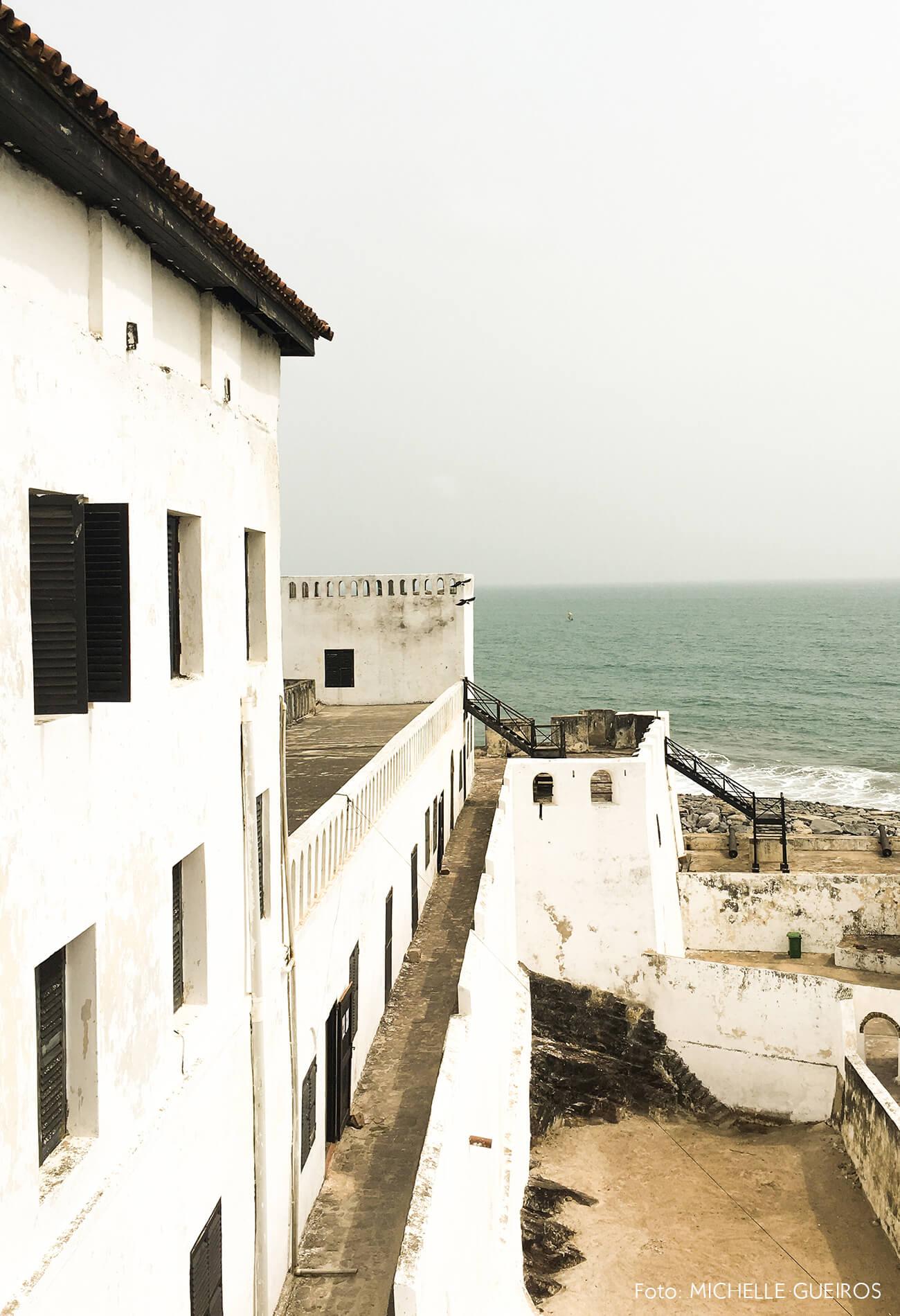 Gana viagem Castelo praia arquitetura