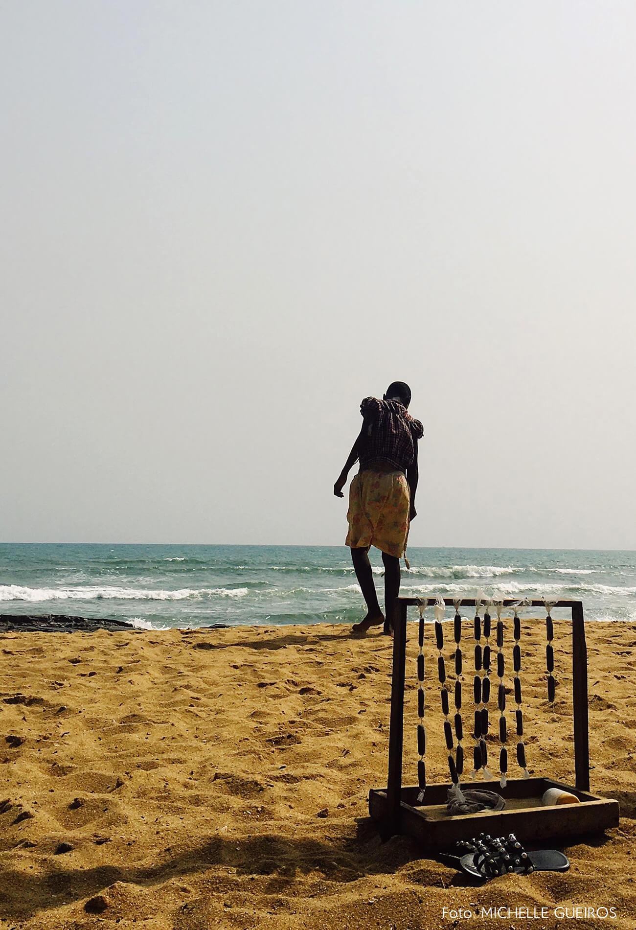 Gana viagem praia retrato