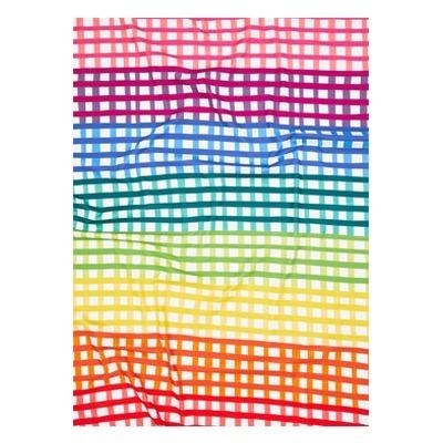 lençol de cobrir quadriculado colorido