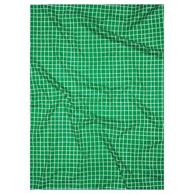 lençol elástico quadriculado verde