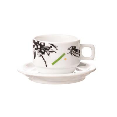 Xícara de Café com Pires Floral