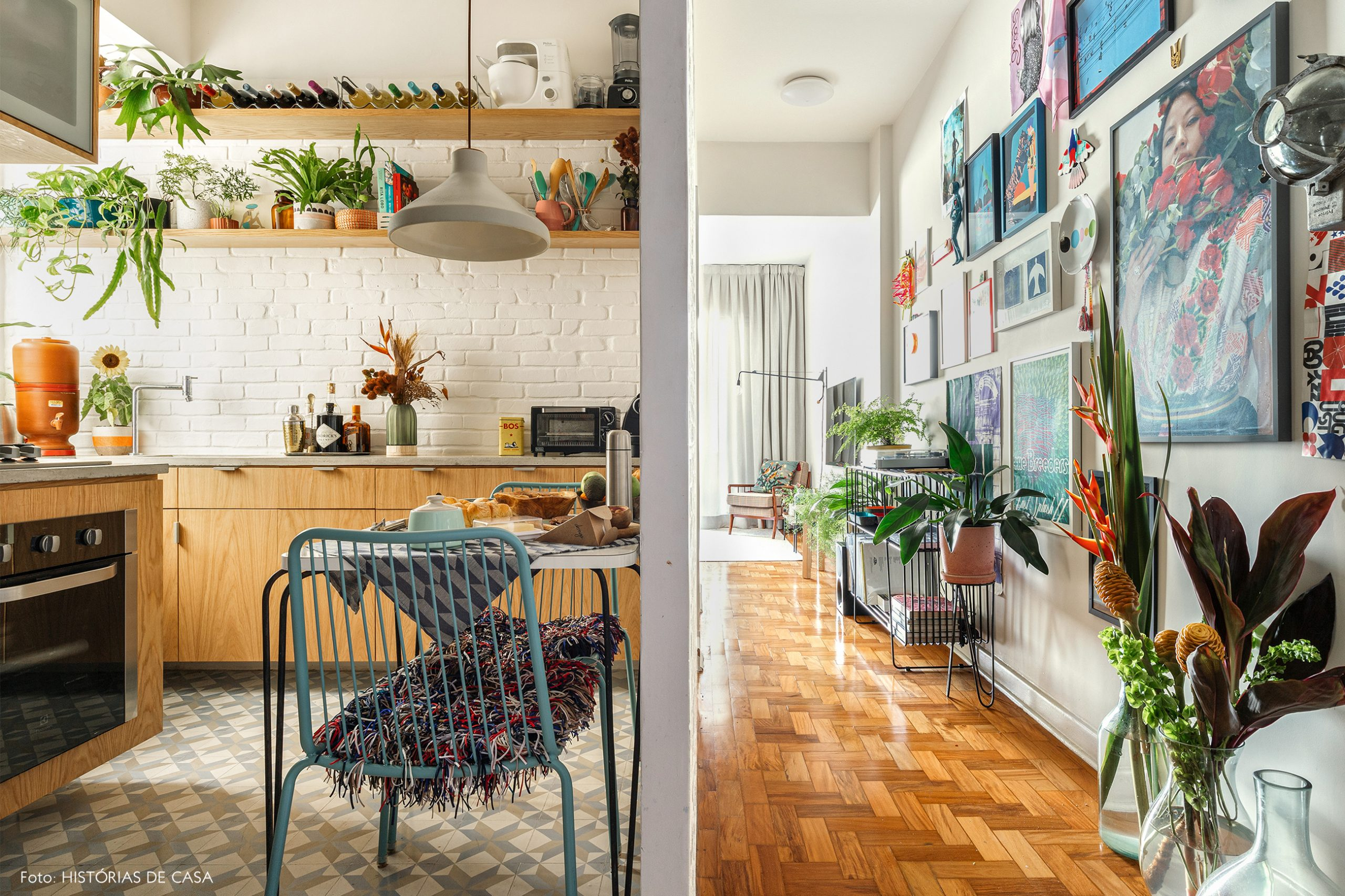 decoração cozinha sala parede cobogos armarios marcenaria