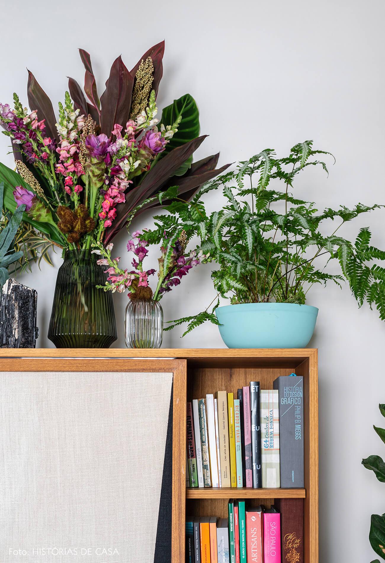 decoração detalhes plantas sala