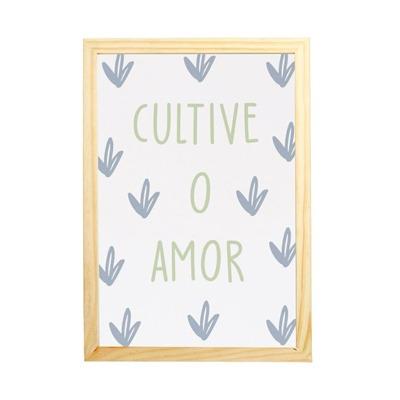 QUADRO SELVA CULTIVE O AMOR MAMA LOVES YOU