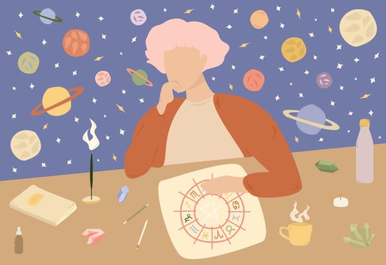 ilustração decoração na casa de cada signo astrologia