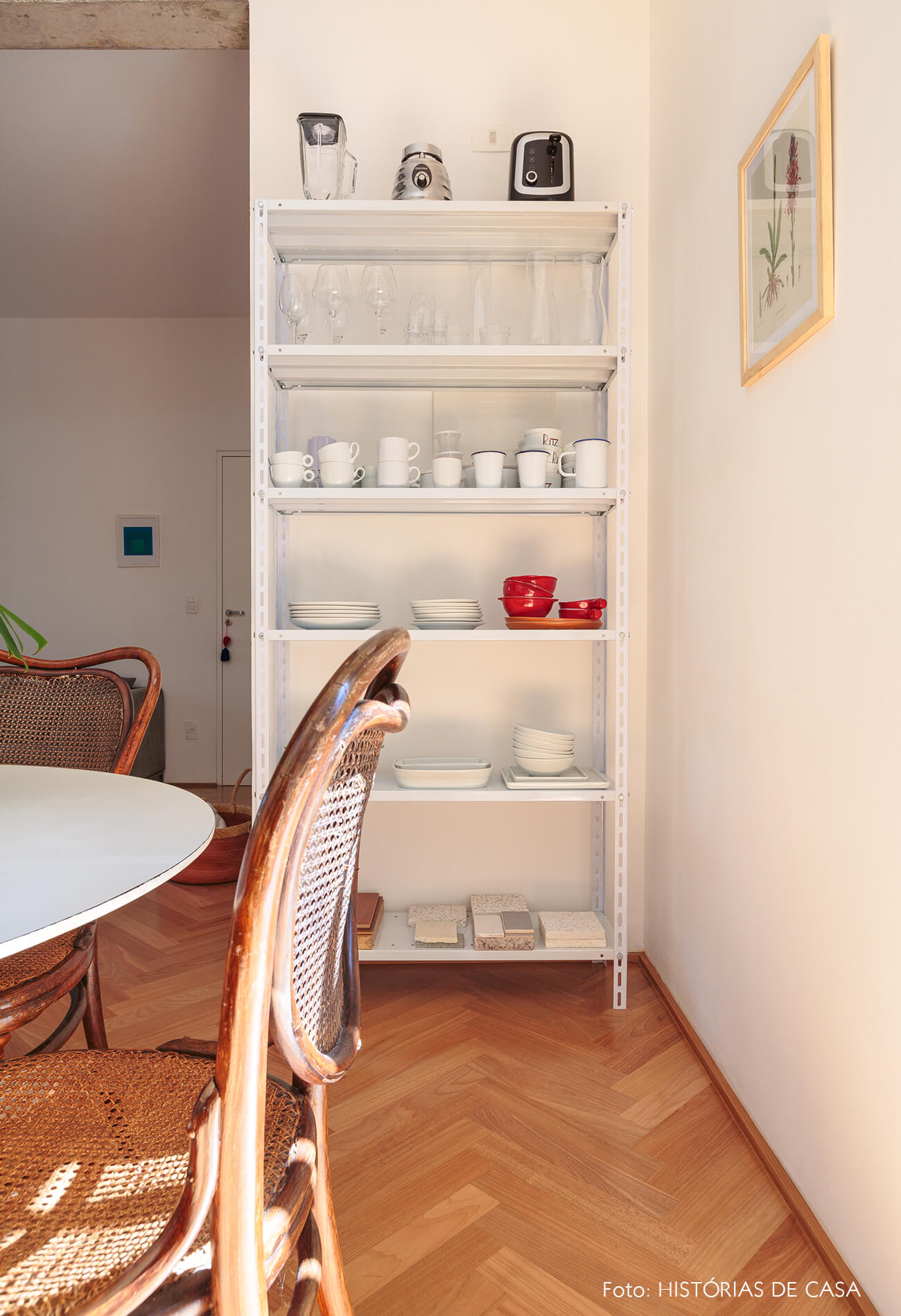 decoração cozinha cadeira palhinha