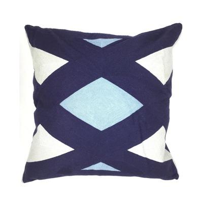 Almofada Bordada azul