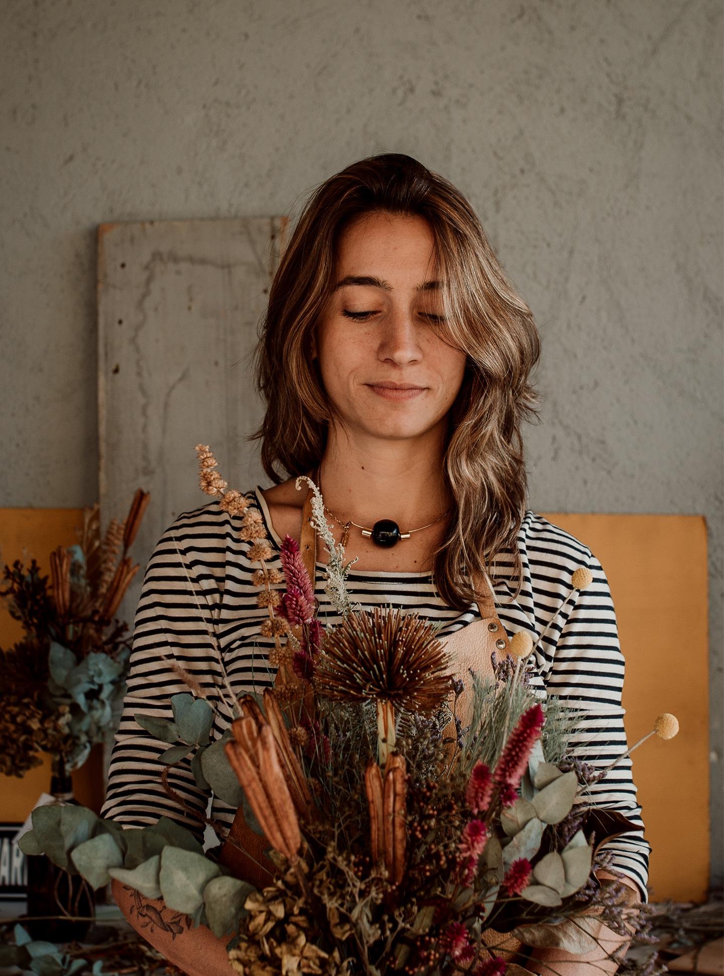 Flores decoração retrato com arranjos plantas