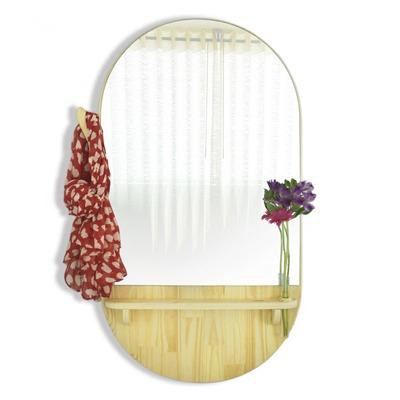 Espelho ABC Grande / Pinus