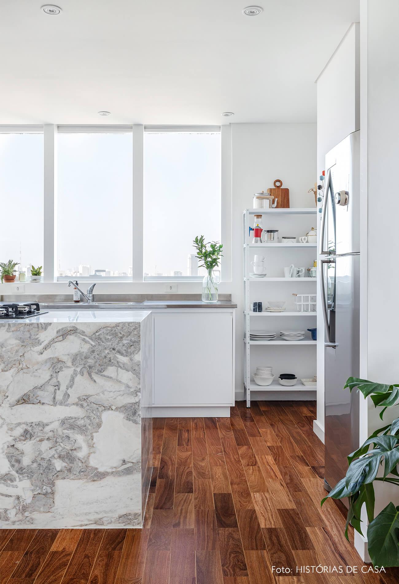 decoração cozinha bancada marmore