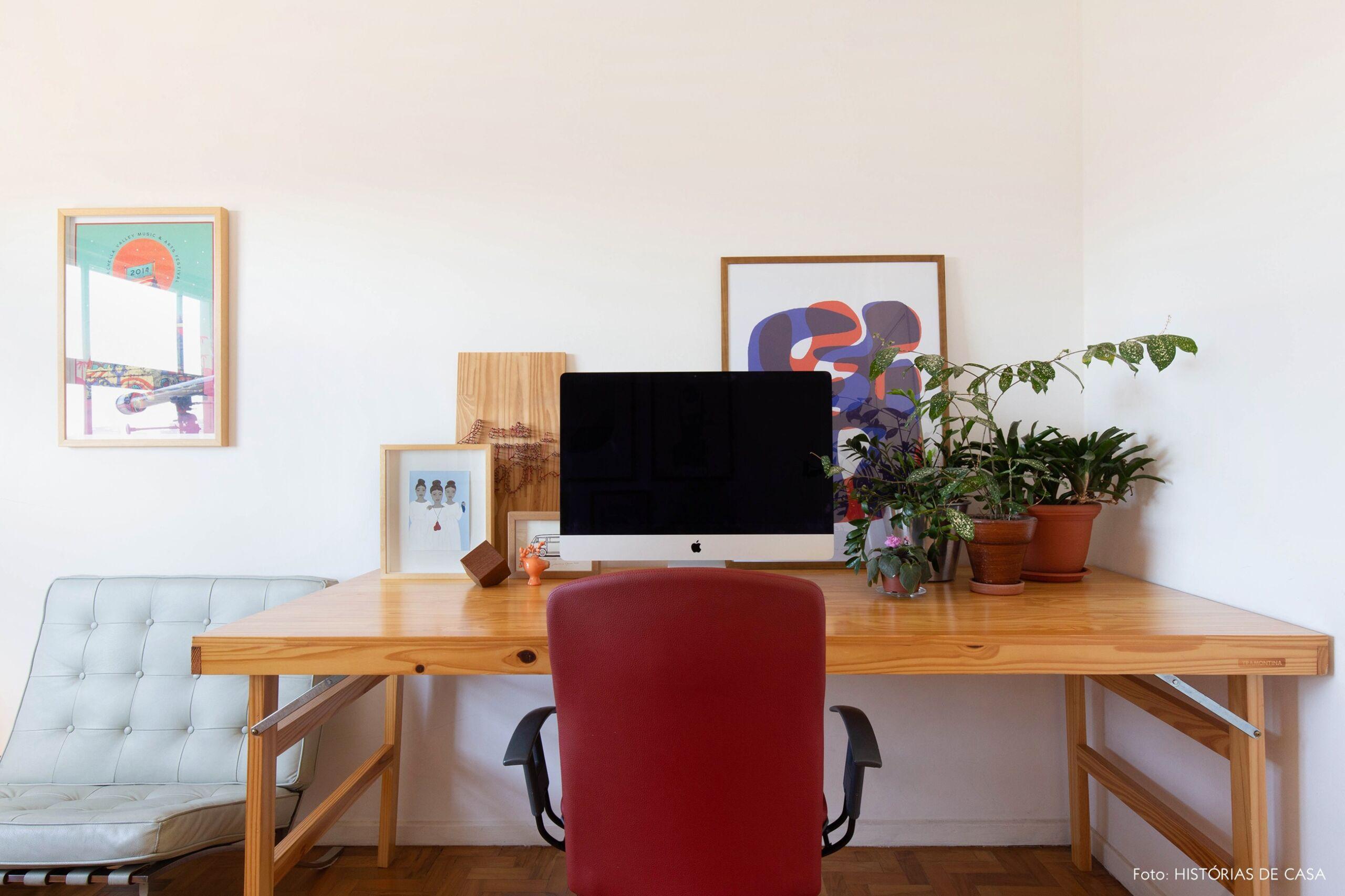 decoração quadros obrah escritorio cadeira barcelona mesa madeira