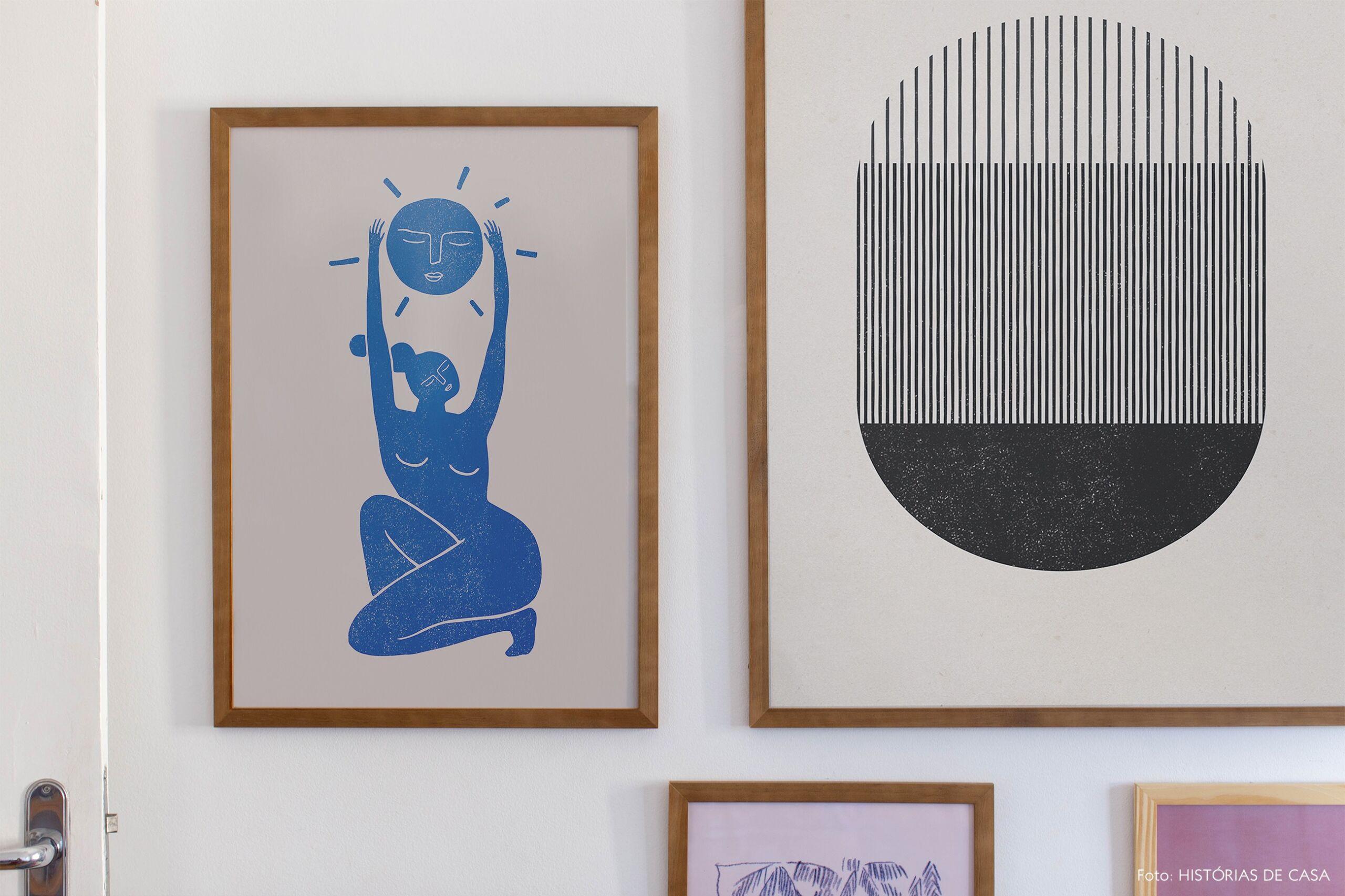 decoração composição quadros obrah escritorio