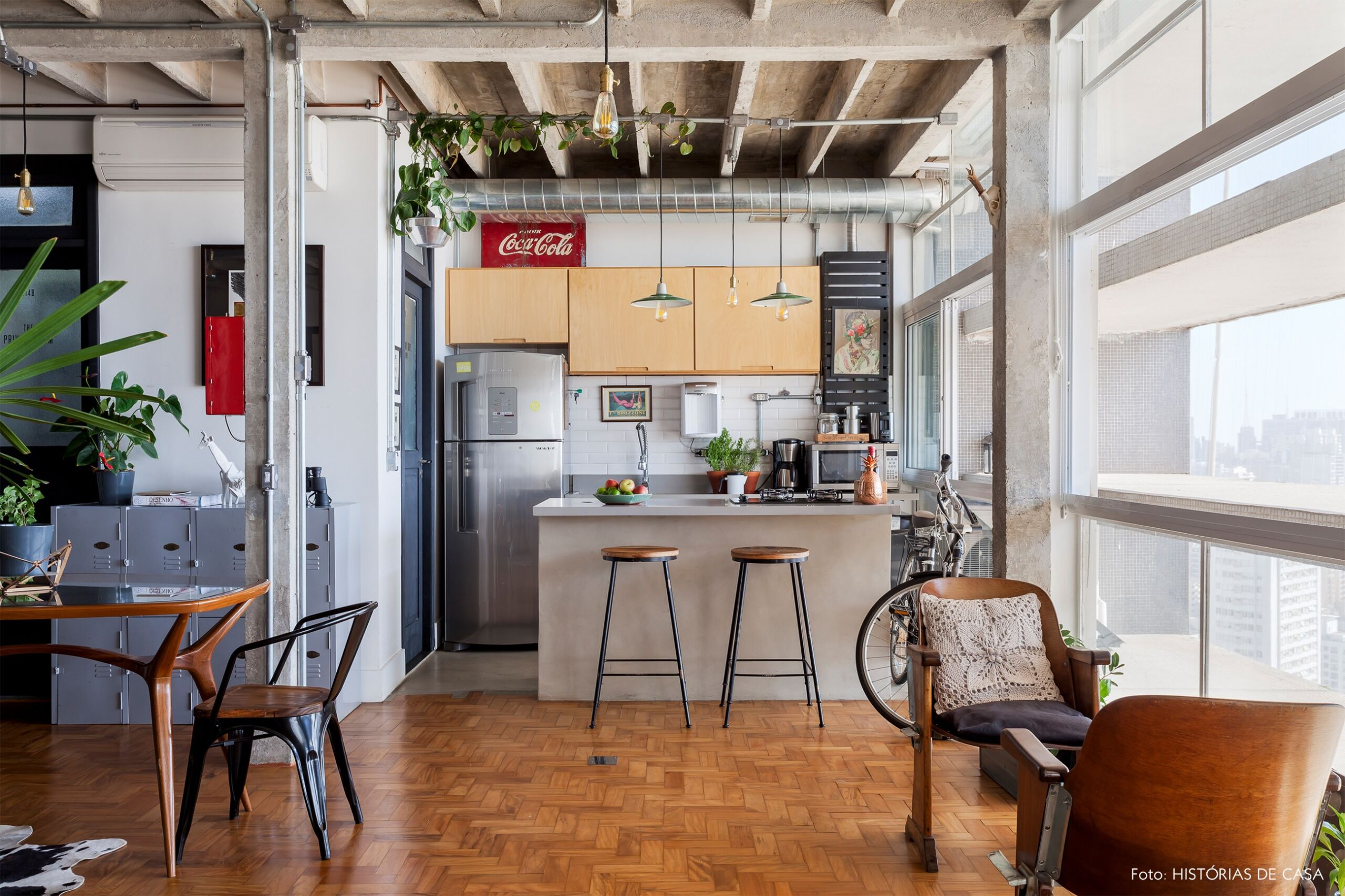 COPAN decoração ape integrado cozinha bancada concreto