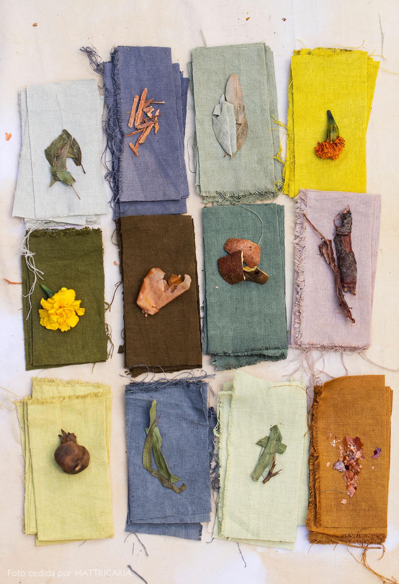 Decoração com tingimento natural de tecidos, como começar. Mattricaria no Histórias de Casa.