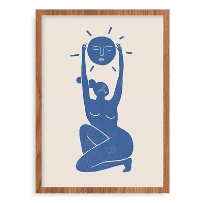 quadro figura humana azul