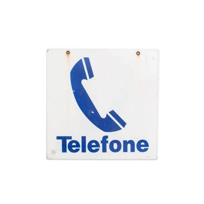 PLACA TELEFONE vintage