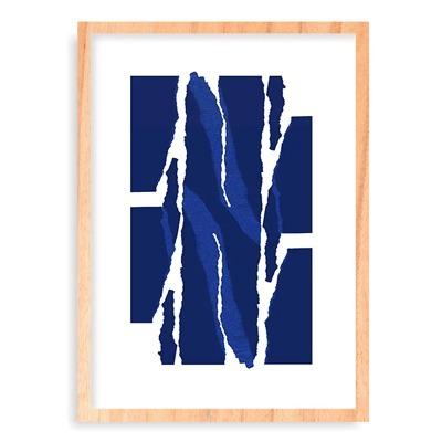 quadro composição abstrata azul