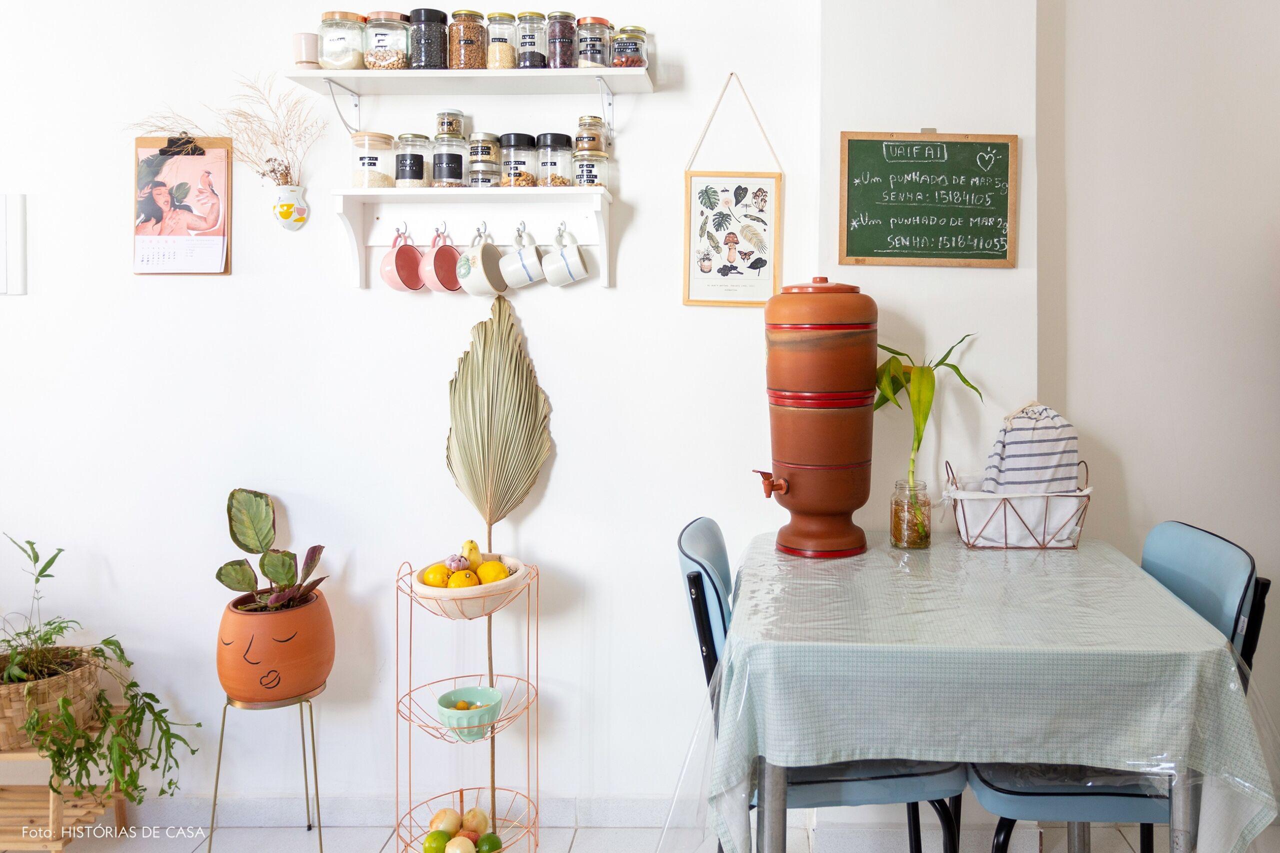 decoração cozinha cesto arame