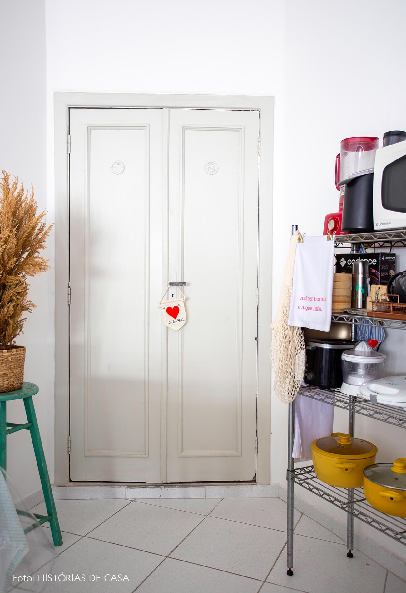 decoração cozinha armario metalico
