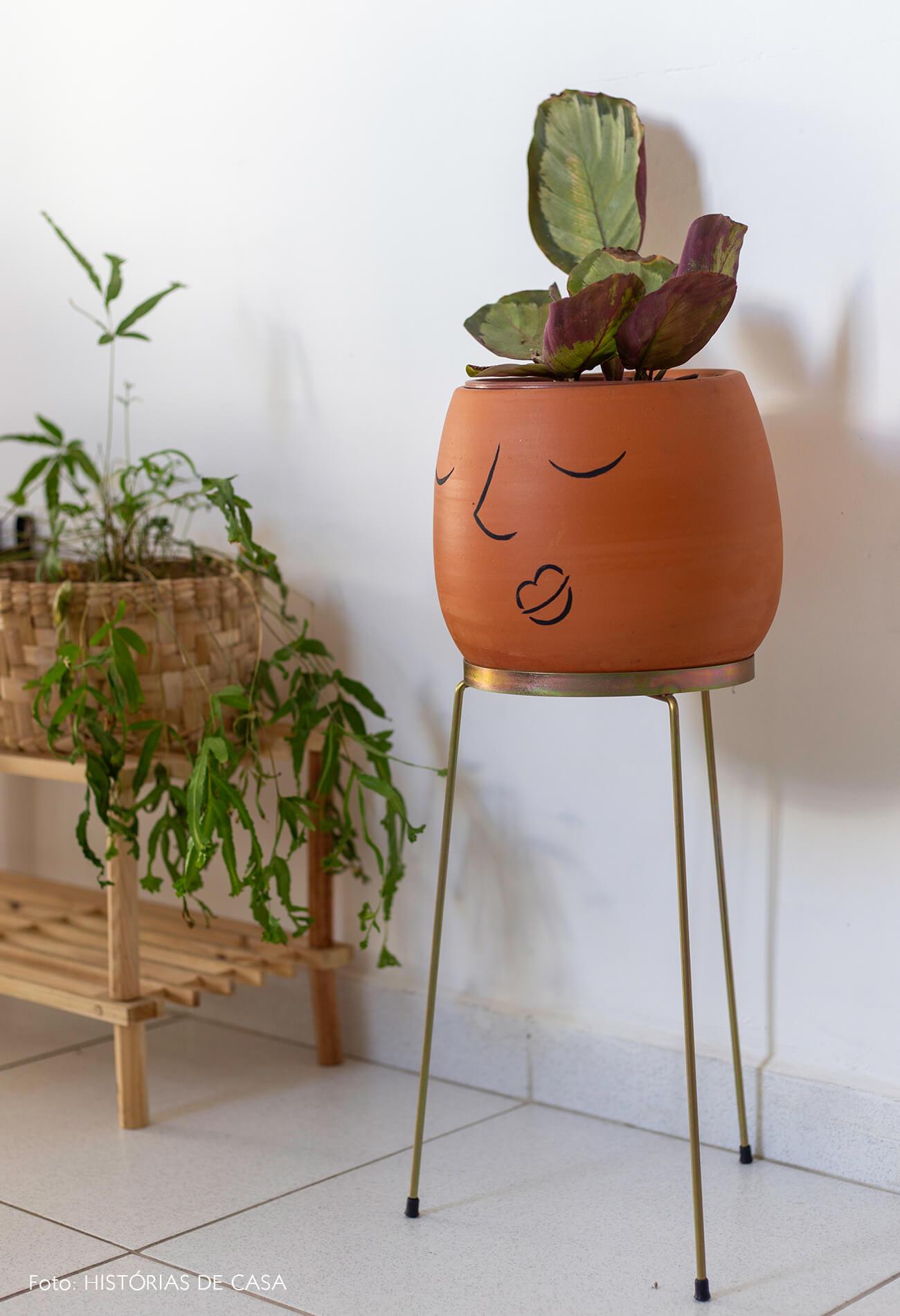 decoração plantas cozinha cesto
