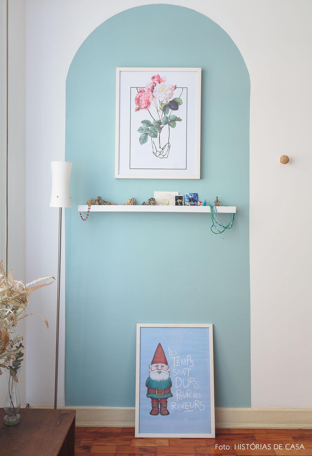 decoração quarto parede azul
