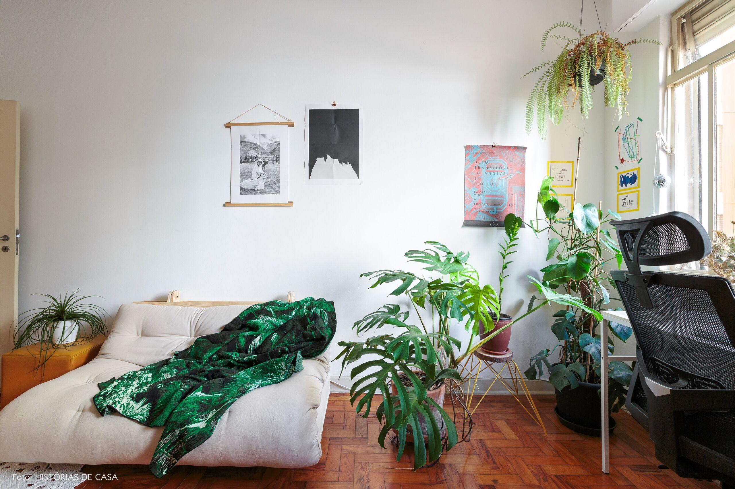 decoração home office futon branco