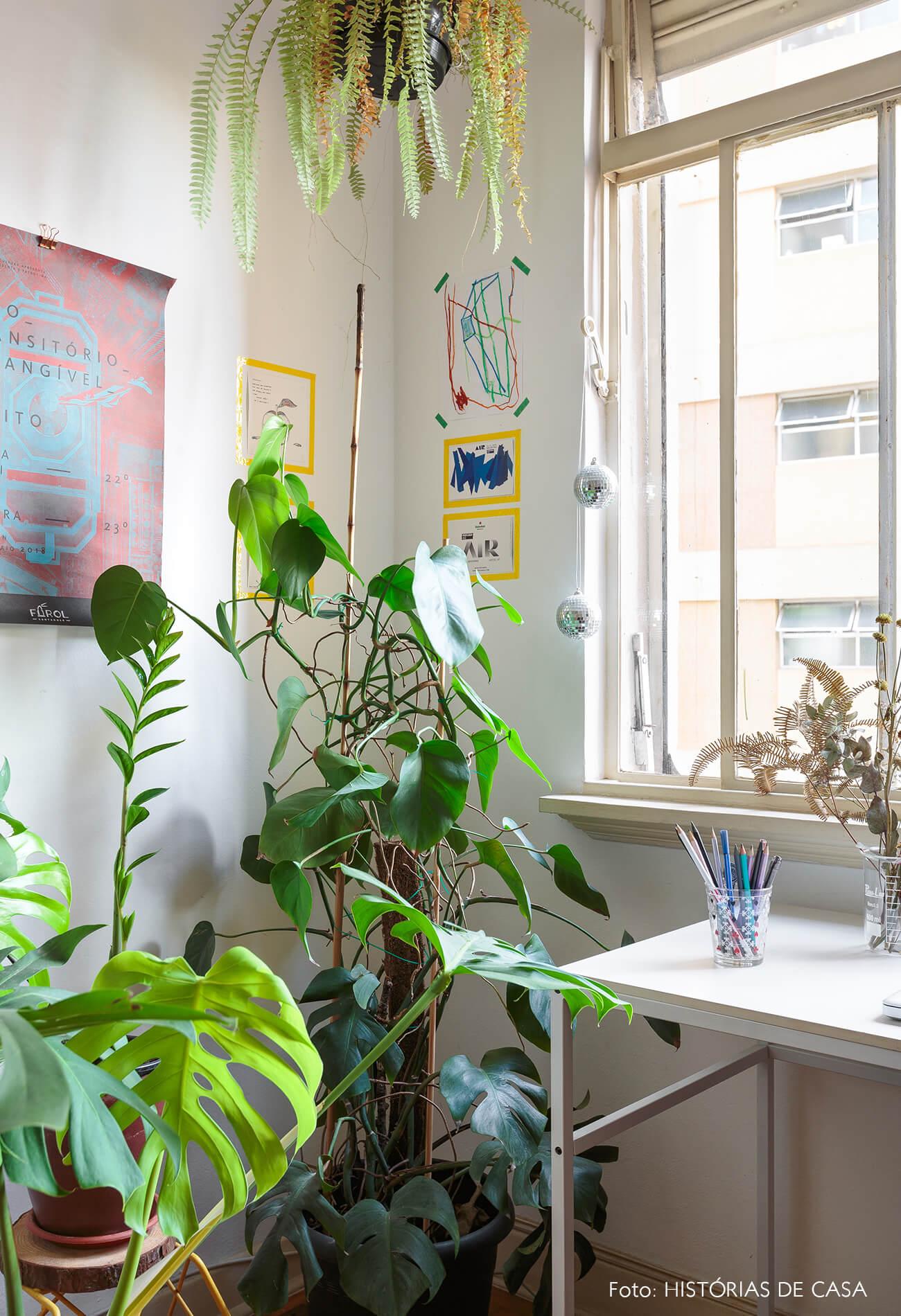 decoração escritório varias plantas