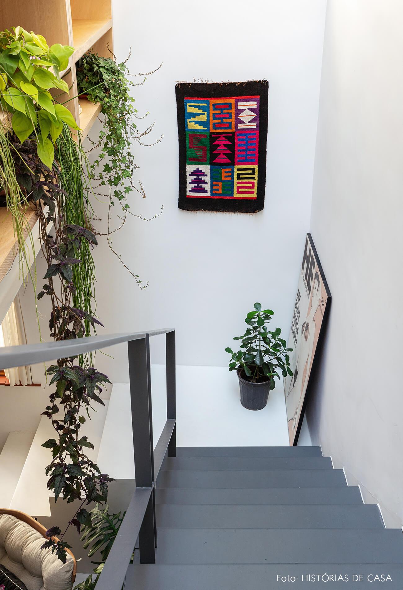 decoração escada tapeçaria