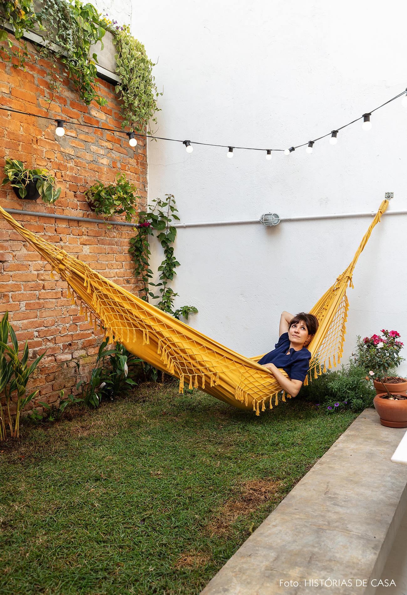 decoração retrato quintal rede