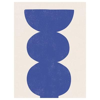 quadro azul abstrato