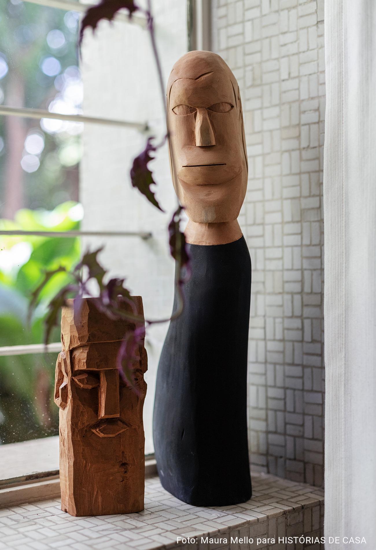 Decoração com objetos de artesanato brasileiro