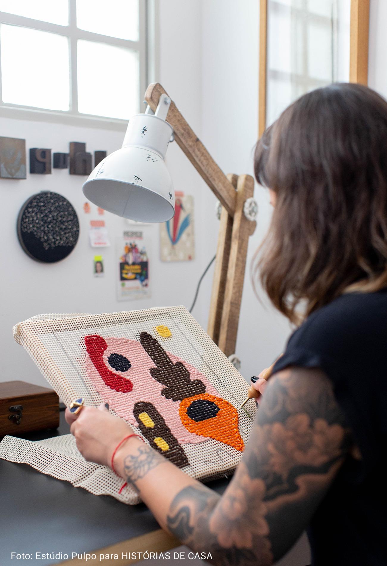 confecção de tapeçaria artesanal