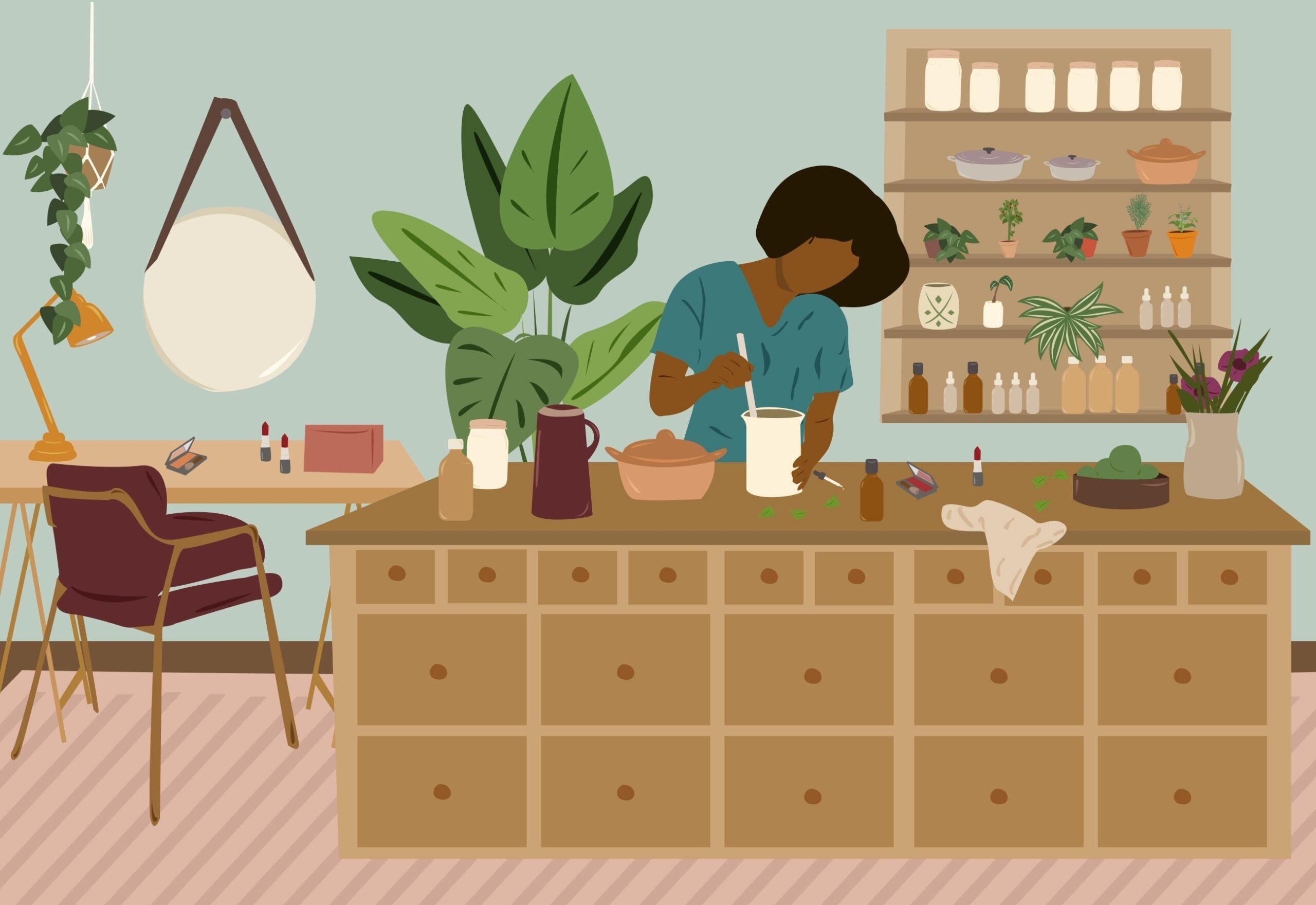 Matéria sobre cosméticos naturais com Mona Soares no Histórias de Casa