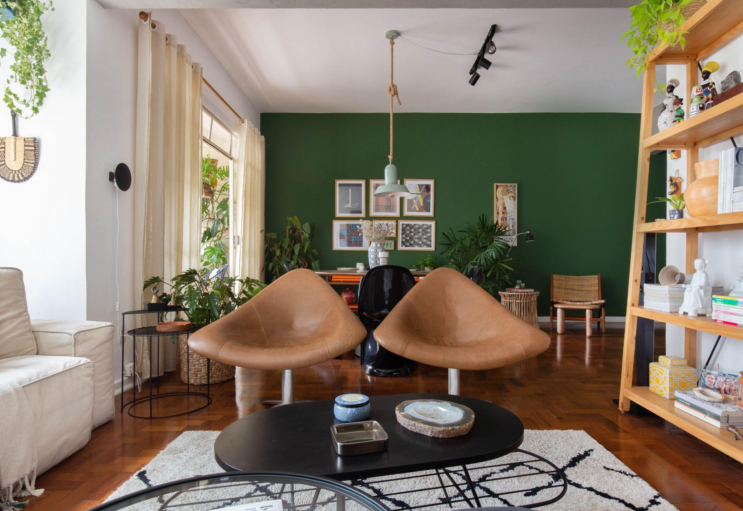 sala com tapete felpudo