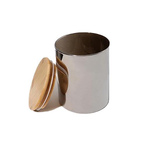 Pote hermético bamboo e vidro