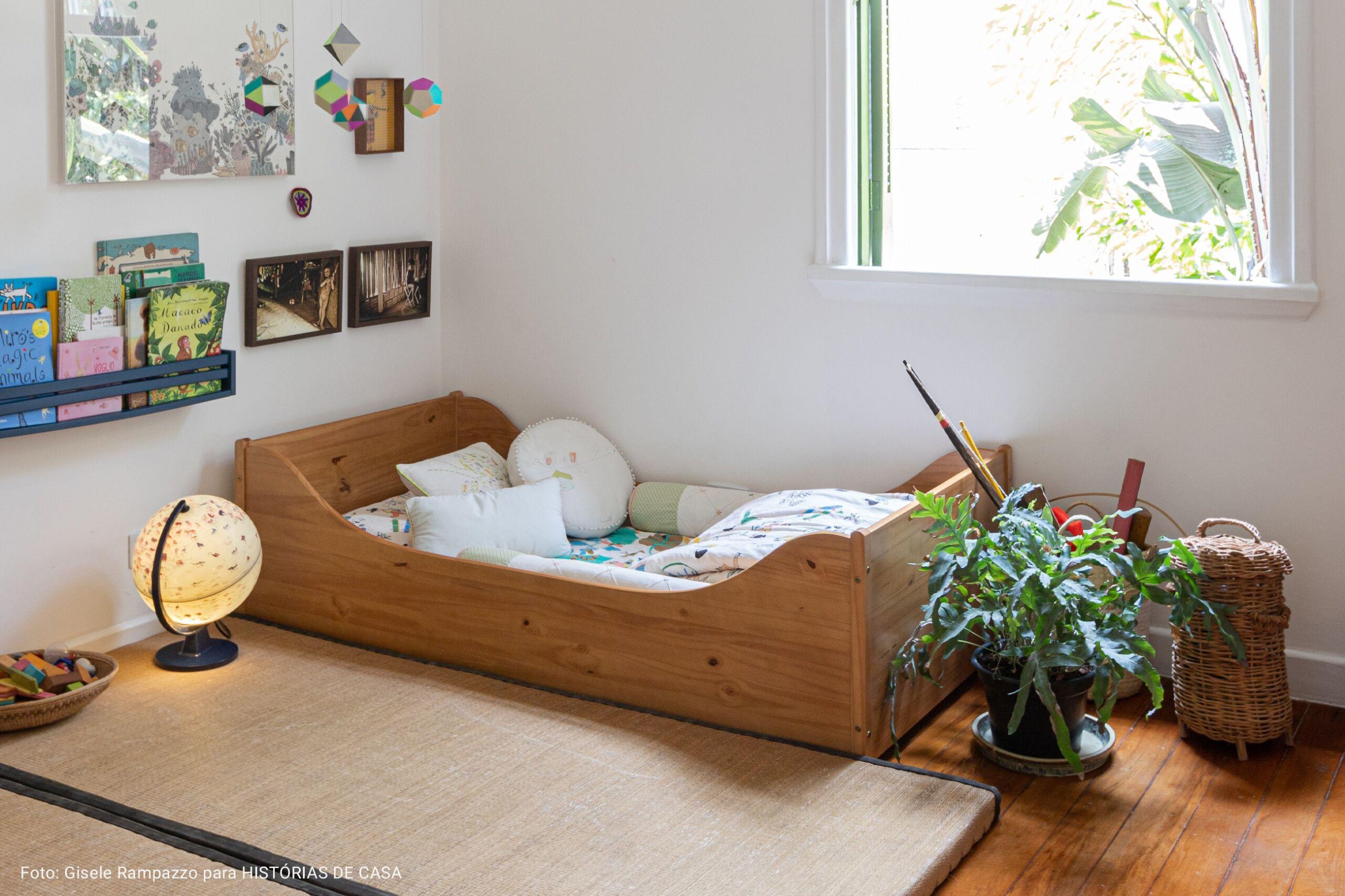 quarto infantil com cama sem pés