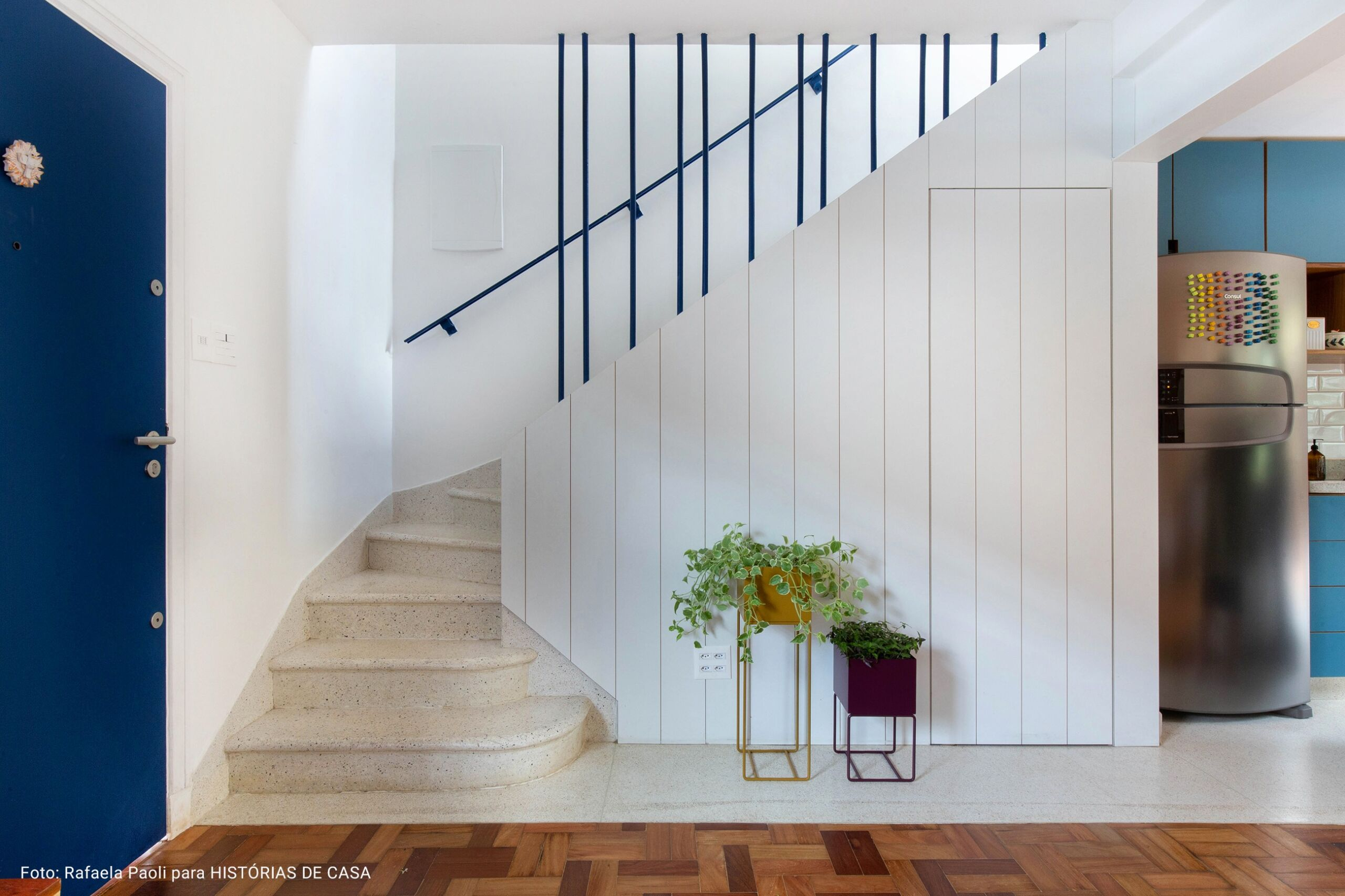 sala com escada de pedra