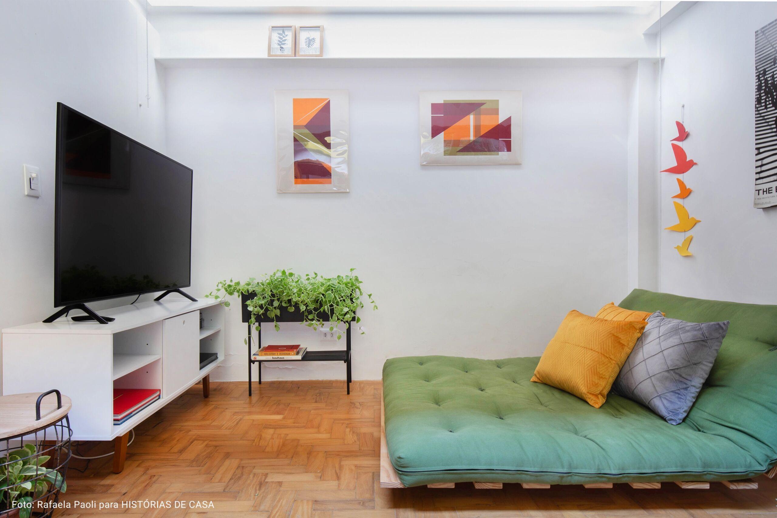 detalhe sala de televisão minimalista