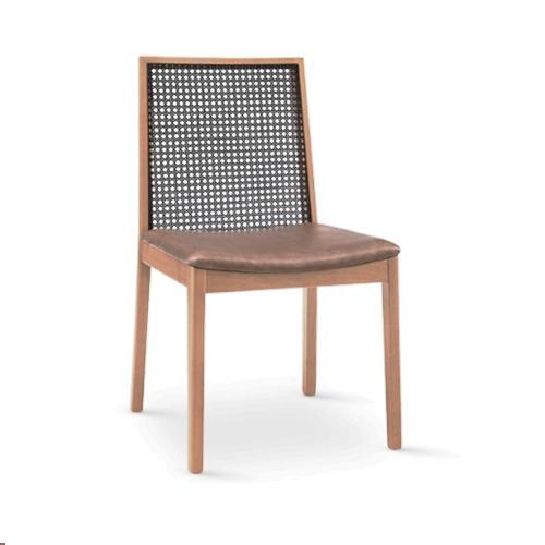 cadeira estofada palha