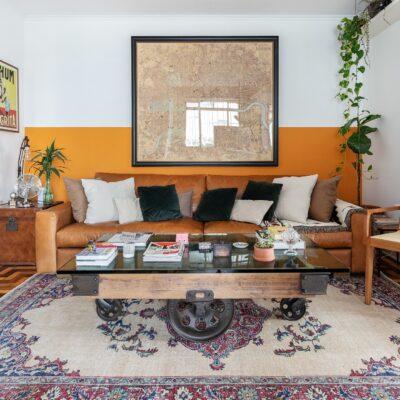 Apartamento colorido e alugado