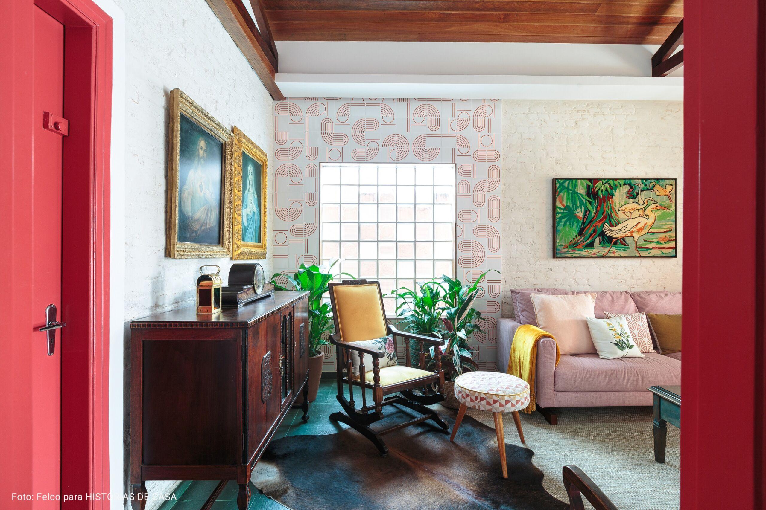 sala com portas melancia