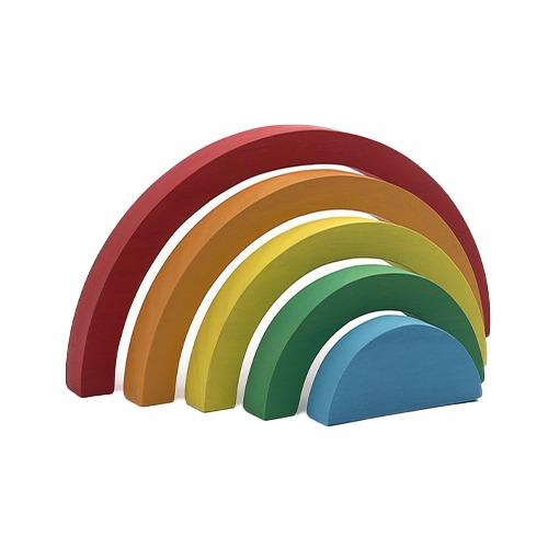 Jogo de empilhar madeira rainbow