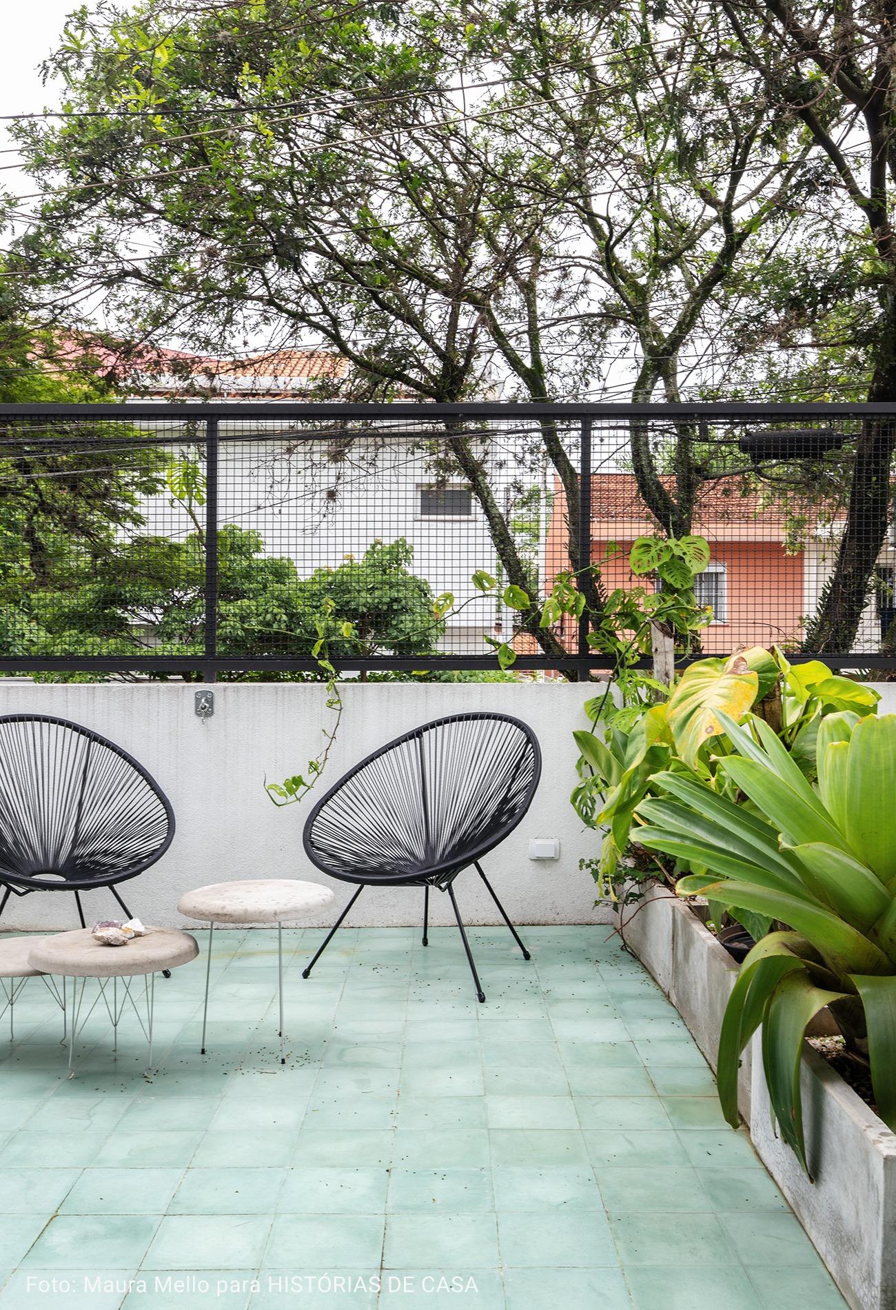 varanda com piso verde