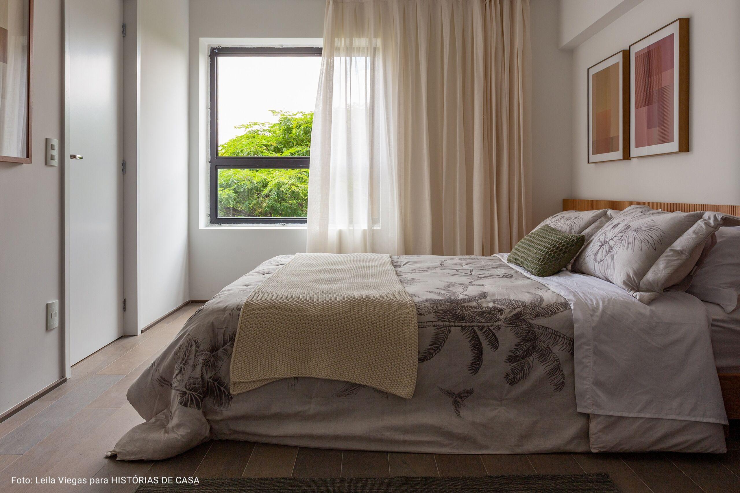 quarto com piso laminado